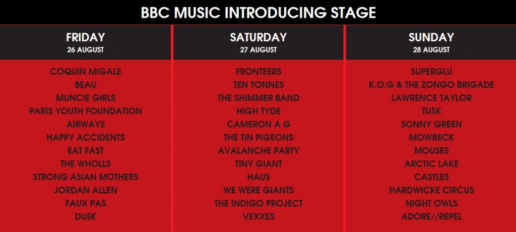 Reading and Leeds BBC Intro Stage
